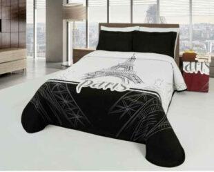 Moderní přehoz na postel Eiffel