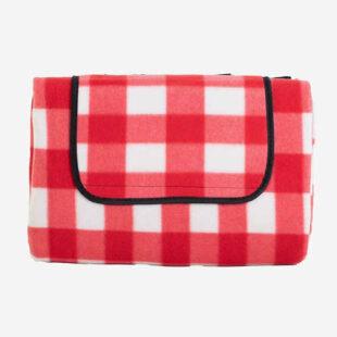 Praktická pikniková deka v kostkovaném vzoru